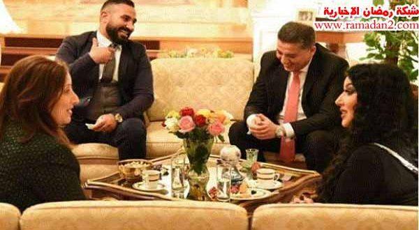 بالصور – السفارة المصرية فى فيينا تستقبل الفنان أحمد سعد برفقة سومية الخشاب