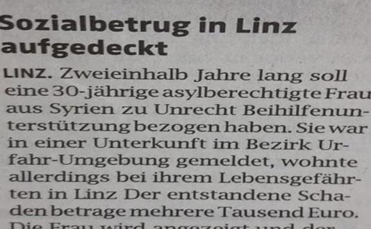 النصب تحت شعار المساعدات الاجتماعية في مدينة لينز النمساوية