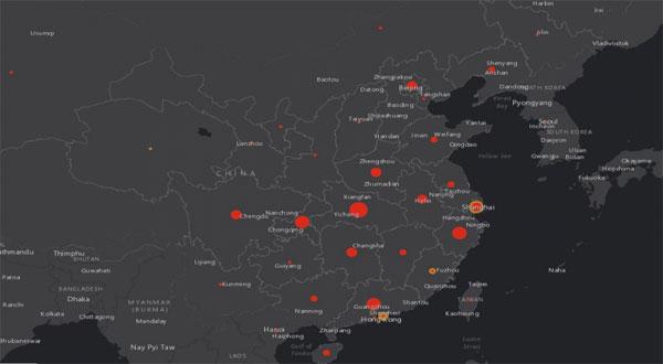 خريطة عالمية لمتابعة تطور فيروس كورونا بث مباشرة لتتبع انتشار «الآفة» عبر العالم
