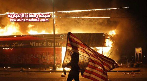 بالفيديو والصور – استنفار غير مسبوق.. مشاهد من قلب مدينة منيابوليس الأمريكية الغاضبة