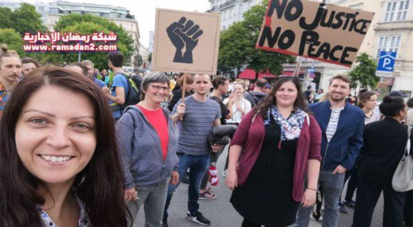 """بالفيديو والصور – """"احتجاجات جورج فلويد"""" تصل فيينا.. هل نشهد نهاية العنصرية في أوروبا أيضاّ ؟"""