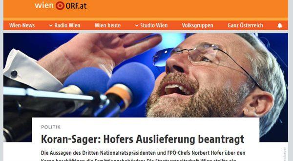 النائب العام النمساوى يطالب البرلمان برفع الحصانة عن زعيم حزب الحرية لتطاوله على القرأن
